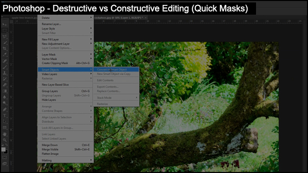 Photoshop - Destructive vs Constructive Editing (Quick Masks)
